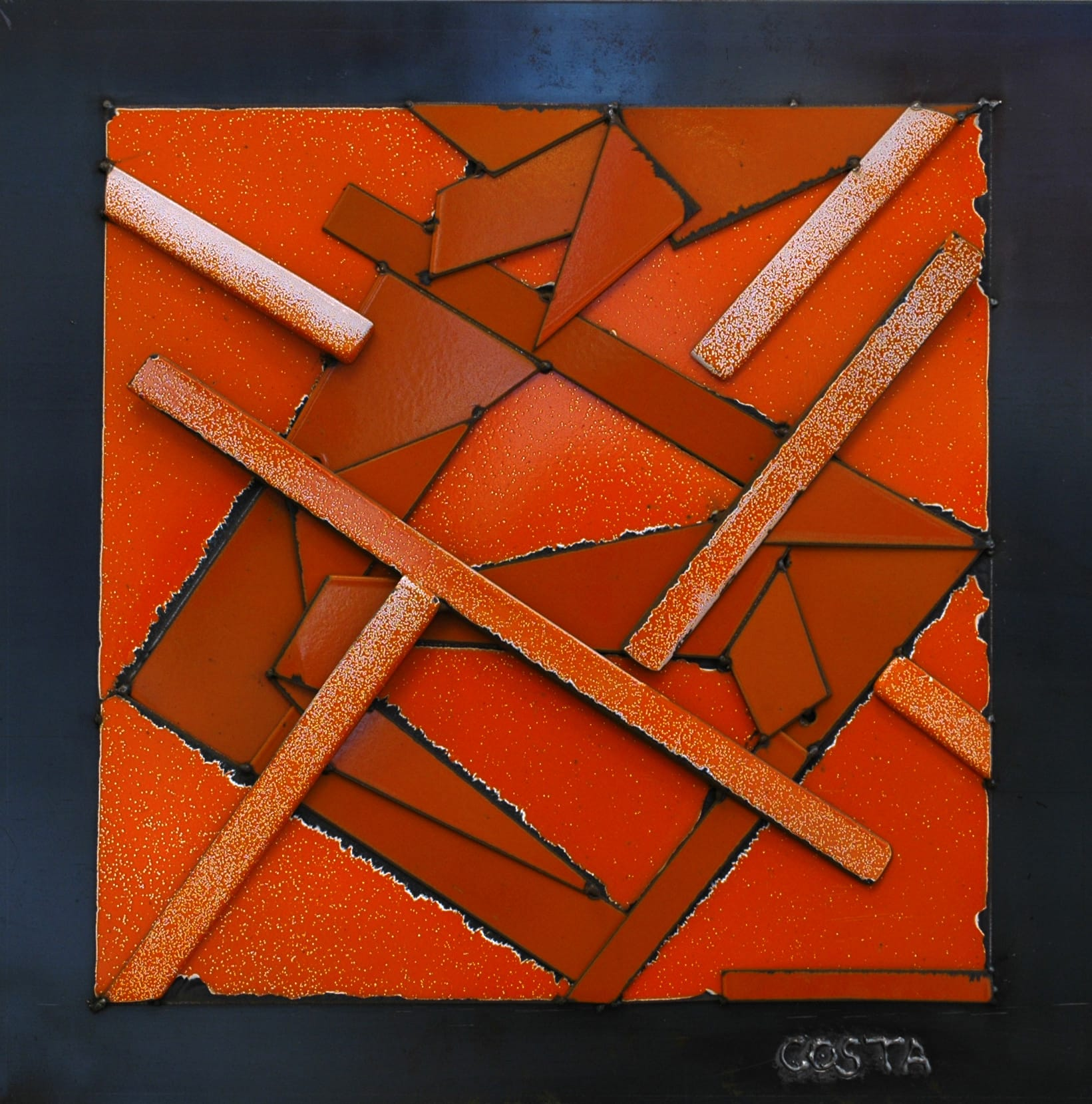 Galerie Art Jingle COSTA Orange 60 x 60 cm 2021