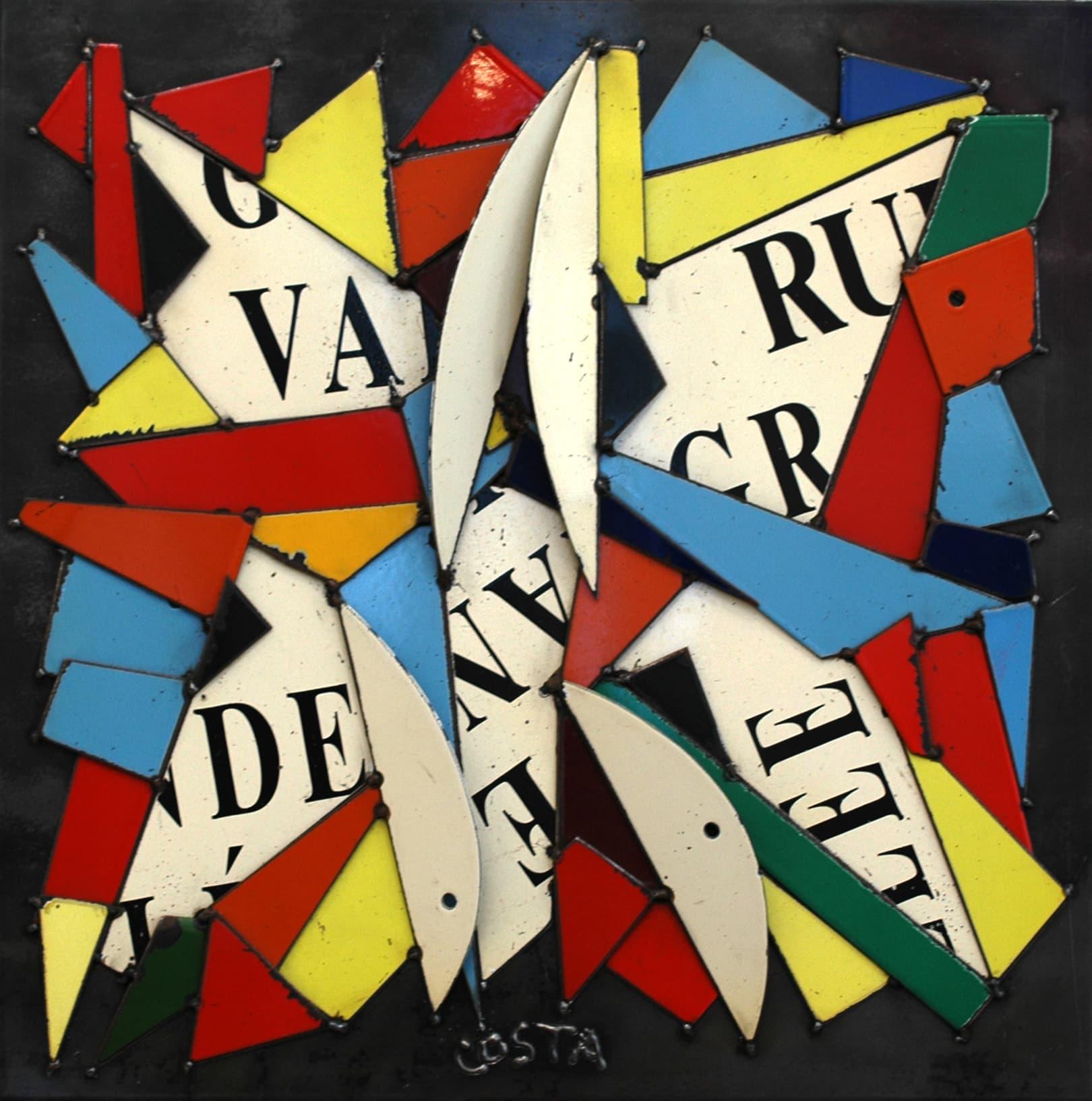 Galerie Art Jingle COSTA Rue Grande Vallée 50 x 50 cm 2021