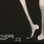 Galerie Art Jingle Jérôme MESNAGER Danse Passionnée 100 x 81 cm (Réf. 53) 2021 Détail 2
