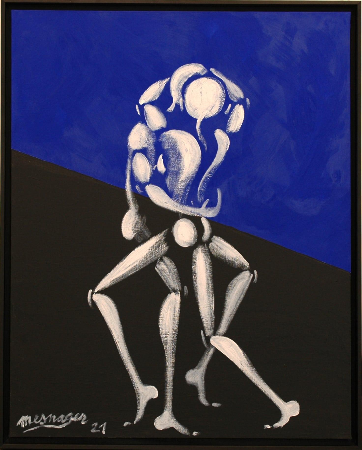 Galerie Art Jingle Jérôme MESNAGER Danse Passionnée 100 x 81 cm (Réf. 53) 2021