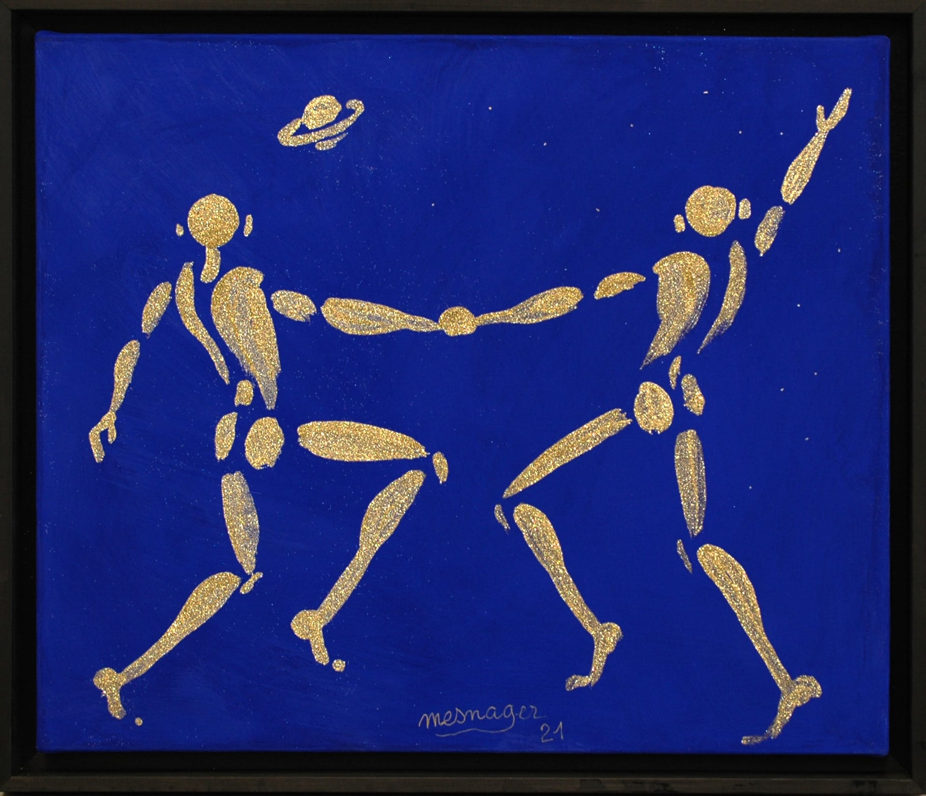 Galerie Art Jingle Jérôme MESNAGER Saturne 55 x 46 cm (Réf. 61) 2021
