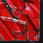 Galerie Art Jingle Rouge COSTA 70 x 70 cm 2021 Détail 1