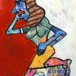 Galerie Art Jingle Antonio Segui Pastel 2. Détail