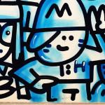 Galerie Art Jingle CHANOIR Blue Love 57 x 76 cm 2021 Détail 1