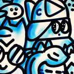 Galerie Art Jingle CHANOIR Blue Love 57 x 76 cm 2021 Détail 2