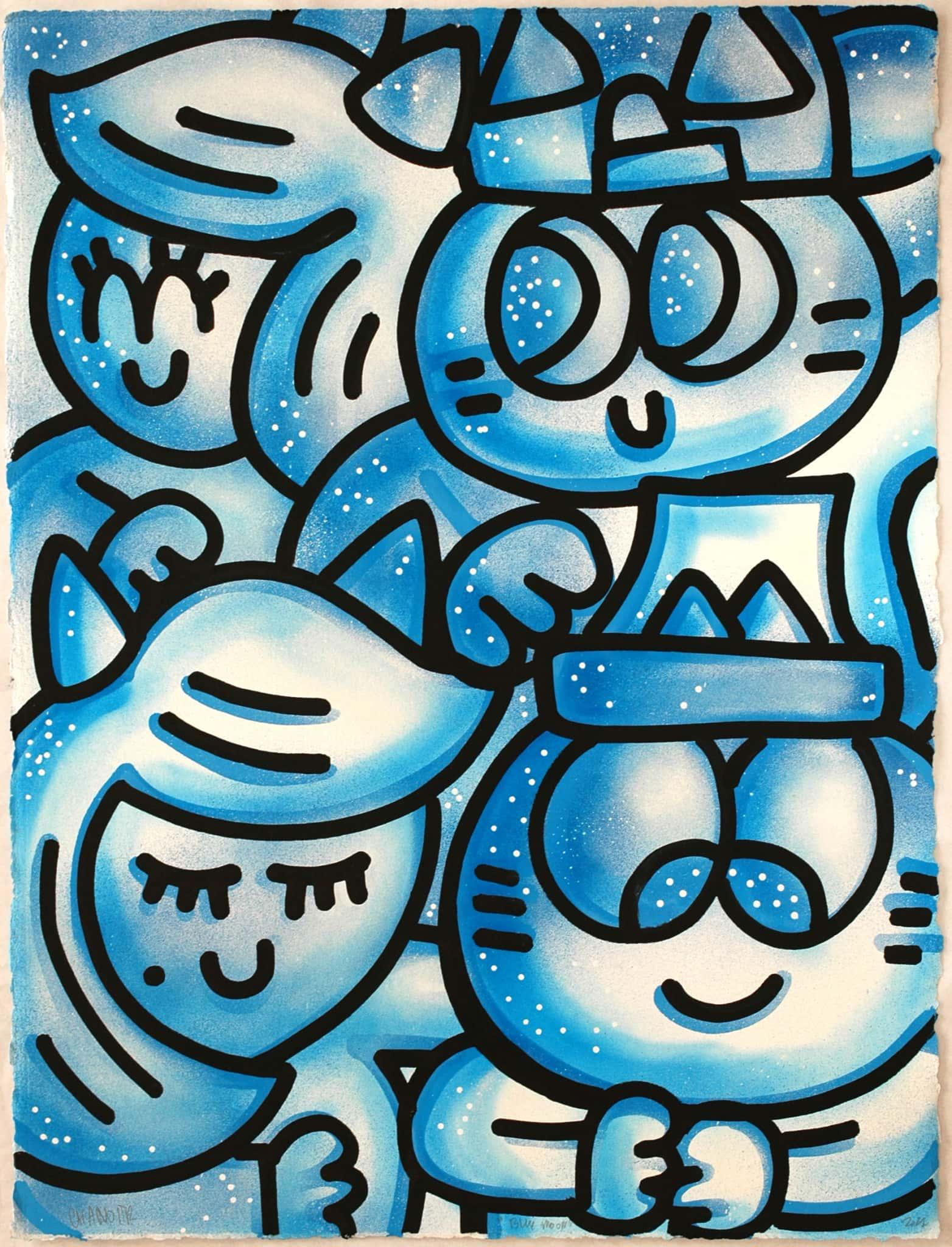 Galerie Art Jingle CHANOIR Blue Moon 57 x 76 cm 2021