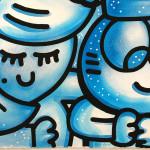 Galerie Art Jingle CHANOIR Blue Moon 57 x 76 cm 2021 Détail 1