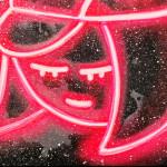 Galerie Art Jingle CHANOIR Cha Fille Cosmique Néon 60 x 60 cm 2021 Détail 2