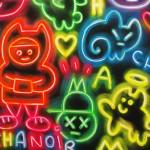 Galerie Art Jingle CHANOIR Chas Néons Multicolors 150 x 150 cm 2021 Détail 2