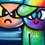 Galerie Art Jingle CHANOIR Cool Colors Cats 100 x 100 cm 2021 Détail 1