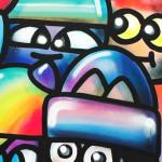 Galerie Art Jingle CHANOIR Cool Colors Cats 100 x 100 cm 2021 Détail 2