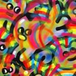 Galerie Art Jingle CHANOIR Rainbow Chas Body 100 x 100 cm 2021 Détail 1