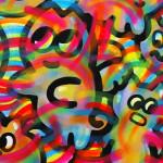 Galerie Art Jingle CHANOIR Rainbow Chas Body 100 x 100 cm 2021 Détail 2