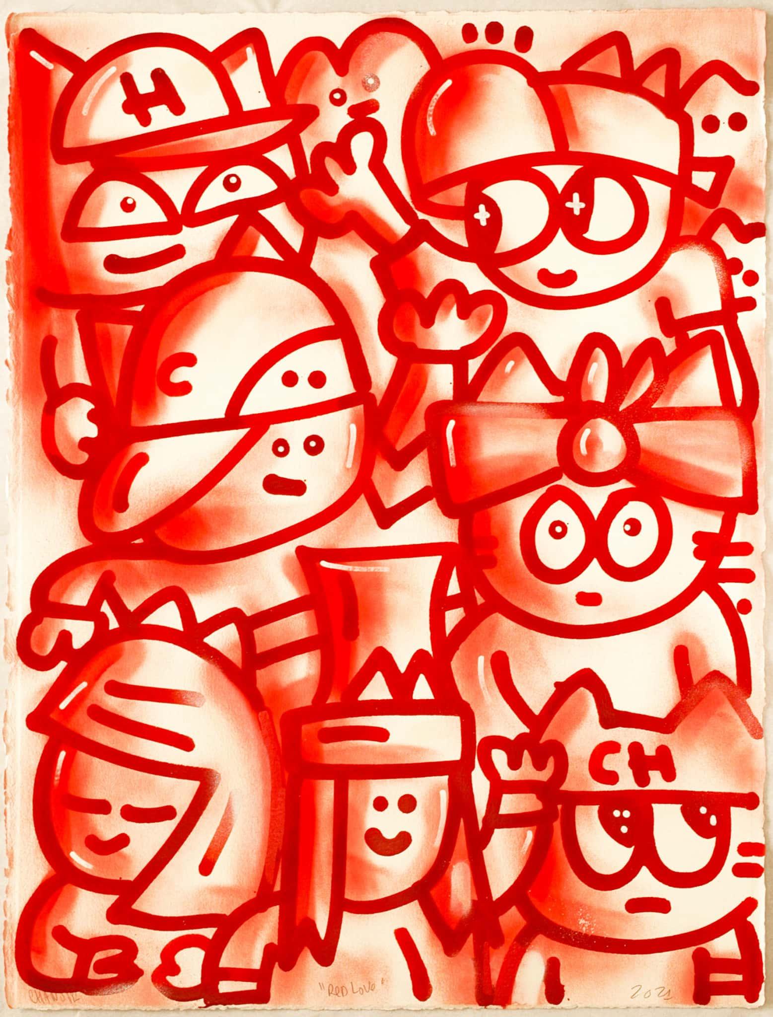 Galerie Art Jingle CHANOIR Red Love 57 x 76 cm 2021
