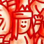 Galerie Art Jingle CHANOIR Red Love 57 x 76 cm 2021 Détail 1
