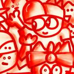 Galerie Art Jingle CHANOIR Red Love 57 x 76 cm 2021 Détail 2