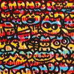 Galerie Art Jingle CHANOIR Rêverie de Chas 100 x 100 cm 2019 Détail 1