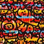 Galerie Art Jingle CHANOIR Rêverie de Chas 100 x 100 cm 2019 Détail 2