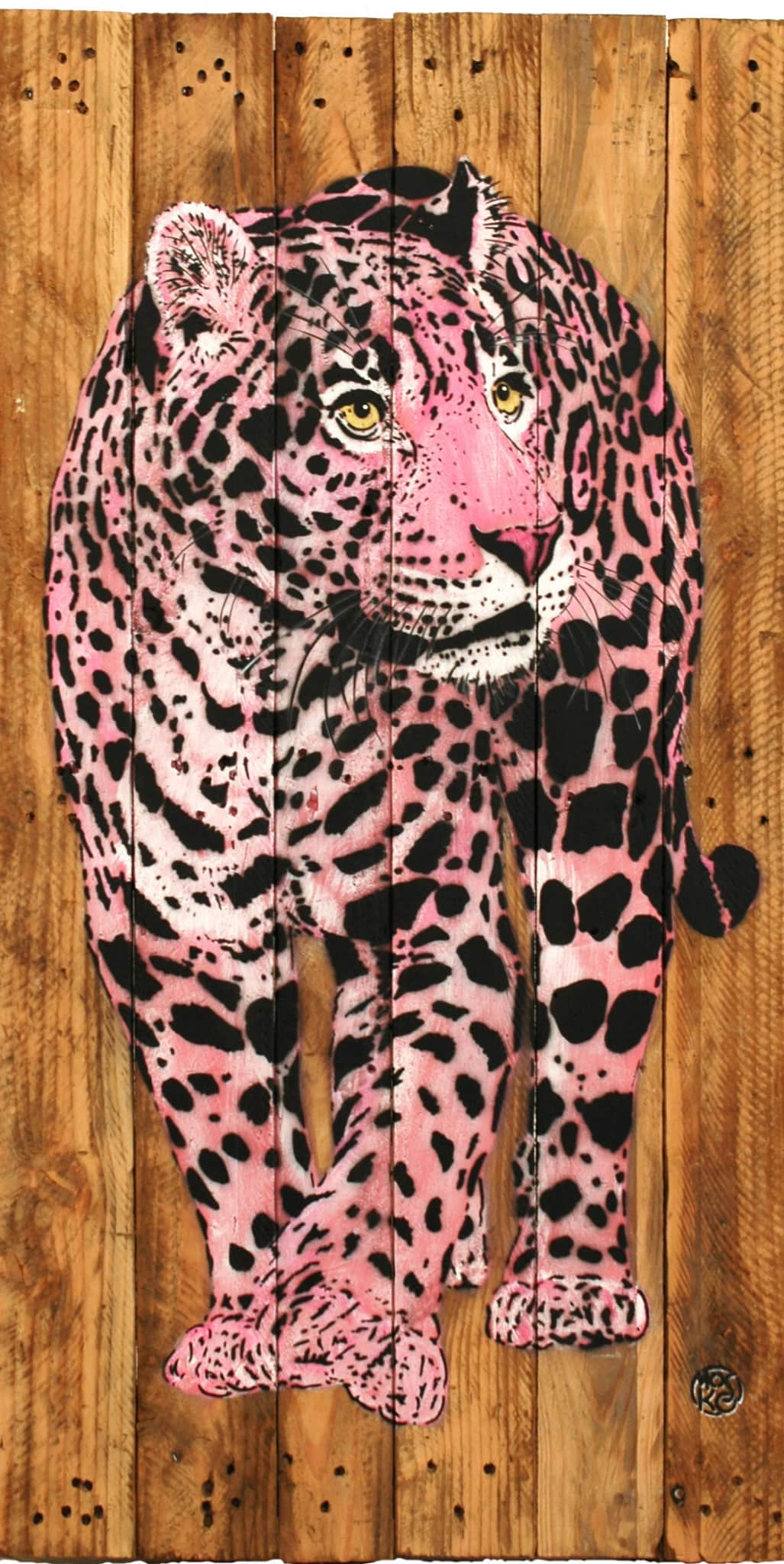 Galerie Art Jingle MOSKO Bébé Jaguar Rose 110 x 55 cm 2021