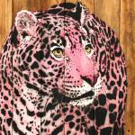 Galerie Art Jingle MOSKO Bébé Jaguar Rose 110 x 55 cm 2021 Détail 1