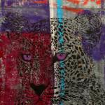 Galerie Art Jingle MOSKO Buste Panthère Tôle 98 x 130 cm 2021 Détail 1