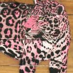 Galerie Art Jingle MOSKO Jaguar Profil Rose 35 x 50 cm 2021 Détail 1