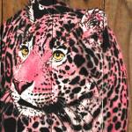 Galerie Art Jingle MOSKO Petit Bébé Jaguar Rose 50 x 30 cm 2021 Détail 1