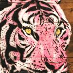 Galerie Art Jingle MOSKO Tigre Tête Rose 56 x 50 cm 2021 Détail 1