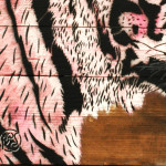 Galerie Art Jingle MOSKO Tigre Tête Rose 56 x 50 cm 2021 Détail 2