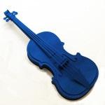 Galerie Art Jingle Maud VANTOURS Violon Bleu 25 x 9.5 cm 2021 Détail 1