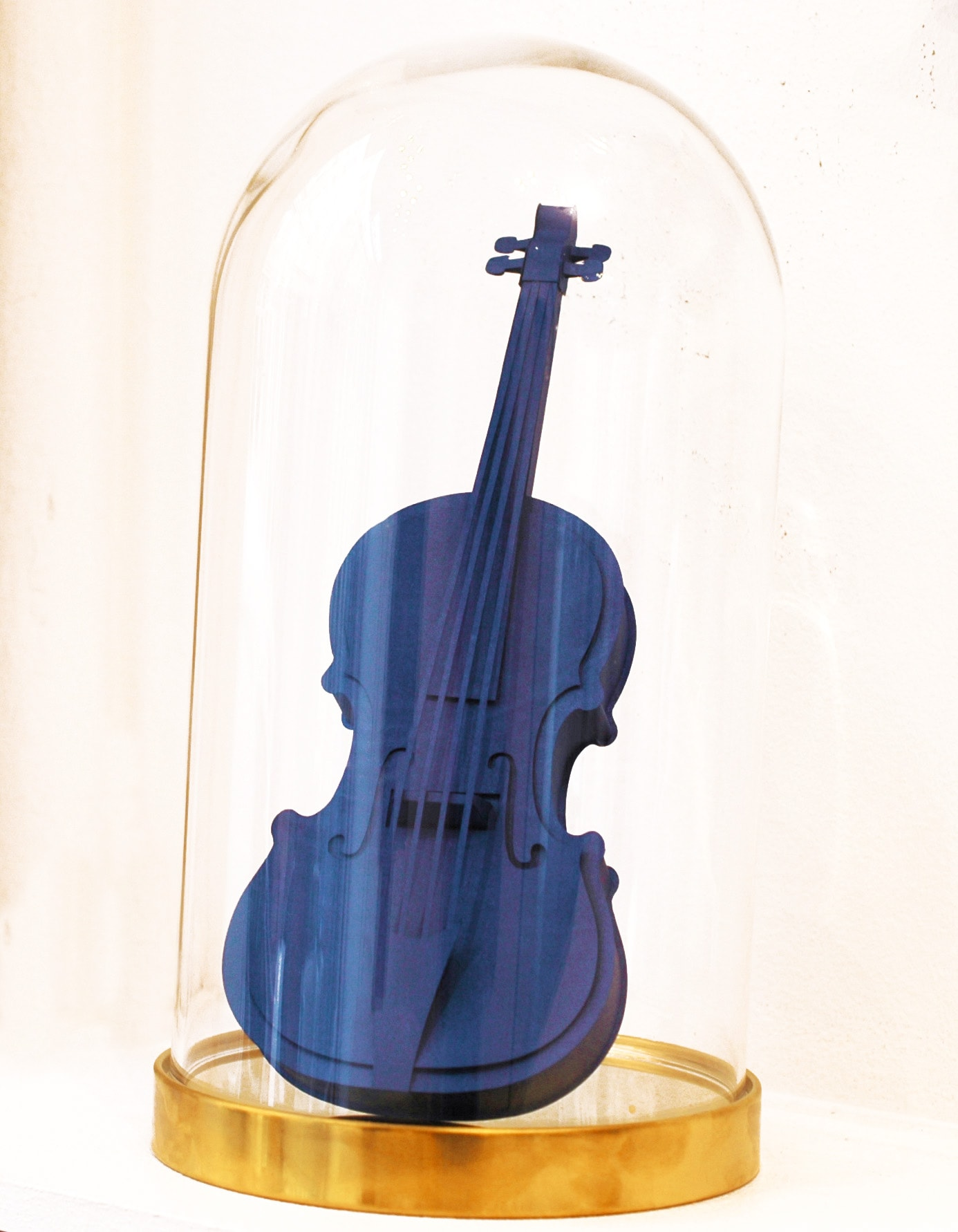 Galerie Art Jingle Maud VANTOURS Violon Bleu 25 x 9.5 cm 2021
