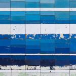 Galerie Art Jingle NESLER Bleu D'Eau Douce 70 x 70cm 2021 Détail 1