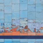 Galerie Art Jingle NESLER Bleu D'Eau Douce 70 x 70cm 2021 Détail 2