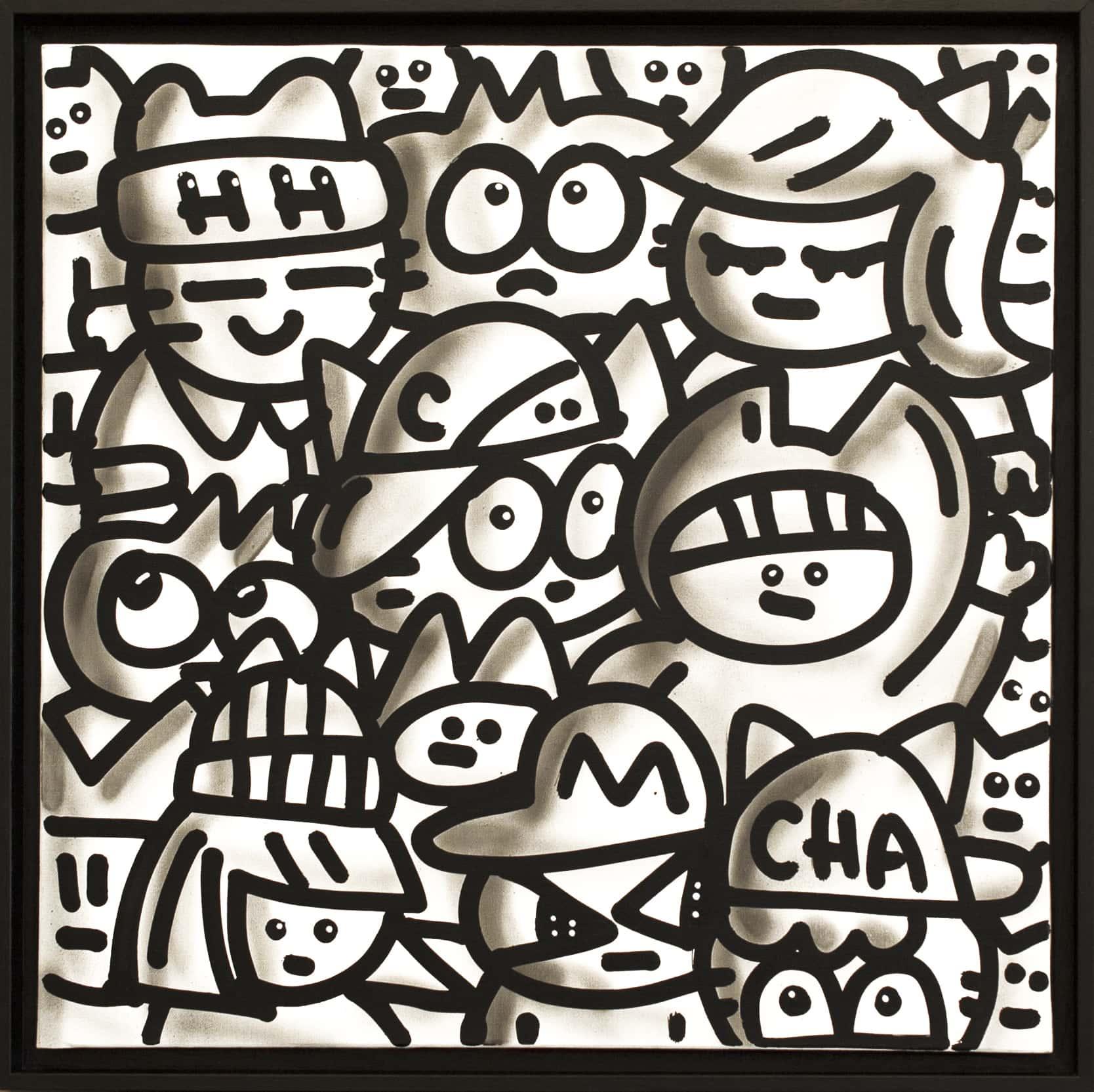 Galerie Art Jingle CHANOIR Black Black White Chas 60 x 60 cm 2021