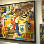 Galerie Art Jingle GRIMALDI Coup D'Eclat 212 x 162 x 6 cm 2021 En situation