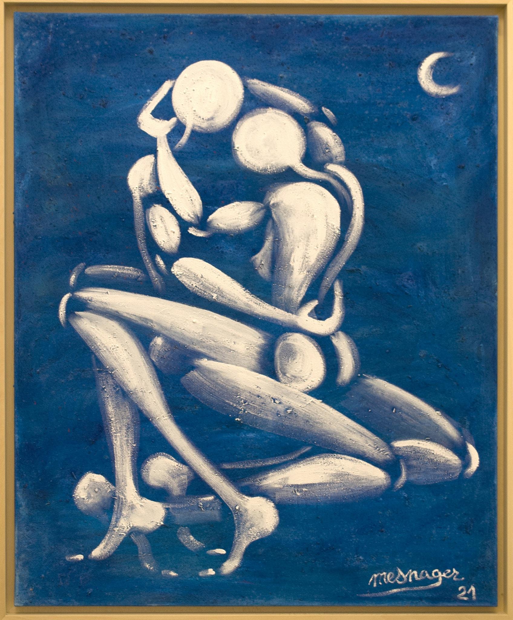 Galerie Art Jingle Jérôme MESNAGER Câlin Nocturne 100 x 81 cm (Réf. 36) 2021