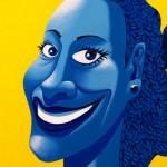 Galerie Art Jingle Ma Negresse Bleue 65 x 54 cm 2001 Détail 2