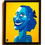Galerie Art Jingle Ma Negresse Bleue 65 x 54 cm 2001 Détail 5