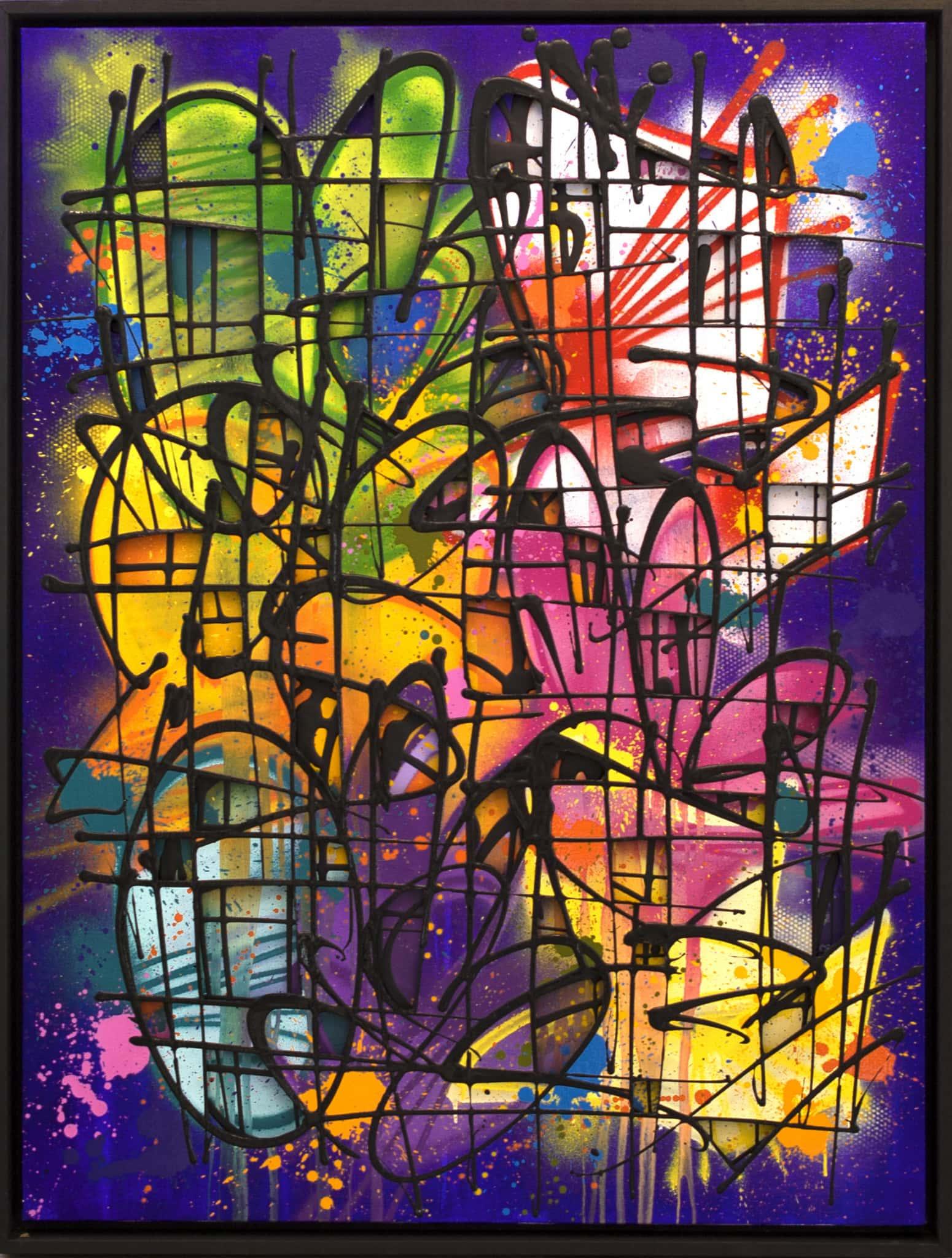 Galerie Art Jingle NEBAY Esprit Malin 130 x 97 cm 2021