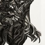 Galerie Art Jingle Shaka Etude L.Freud. Print on paper 24 x 35.5 cm 2011 detail 2